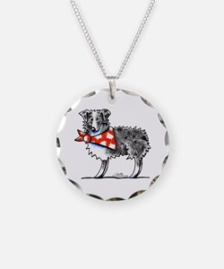 Blue Merle Aussie Necklace