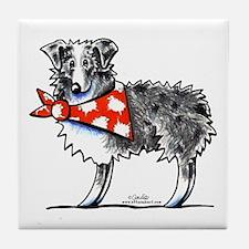 Blue Merle Aussie Tile Coaster