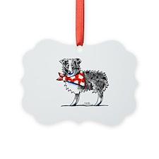 Blue Merle Aussie Ornament