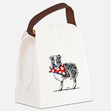 Blue Merle Aussie Canvas Lunch Bag