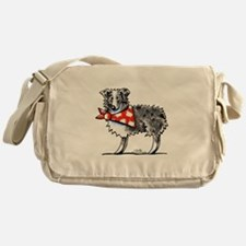 Blue Merle Aussie Messenger Bag