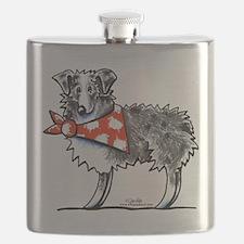 Blue Merle Aussie Flask