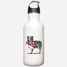 Blue Merle Aussie Water Bottle
