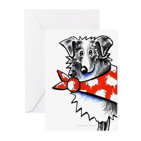 Blue Merle Aussie Greeting Cards (Pk of 20)