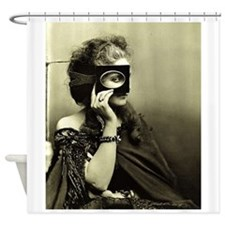Mysterious Victorian Woman With Eye Piece Shower C