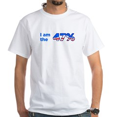 I am the 47% Bumper Sticker White T-Shirt