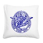 School Seal Square Canvas Pillow