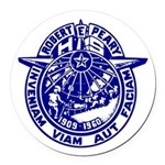 School Seal Round Car Magnet