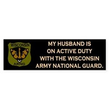 Bumper Sticker: Husband On Active Duty