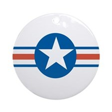 Vintage US Air Force Ornament (Round)