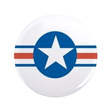 """Vintage US Air Force 3.5"""" Button (100 pack)"""