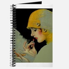 Art Deco Flapper Putting on Lipstick Journal