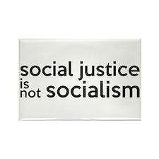 Social Justice Not Socialism Rectangle Magnet