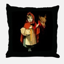Little Red Riding Hood Gets Revenge Throw Pillow