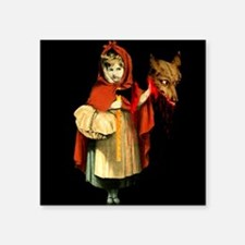 Little Red Riding Hood Gets Revenge Square Sticker