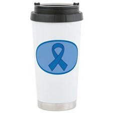 Blue Awareness Ribbon Travel Mug
