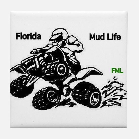 Florida Mud Life Tile Coaster