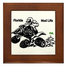Florida Mud Life Framed Tile