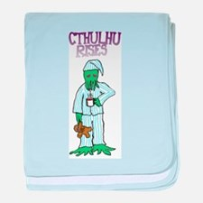 Cthulhu Rises baby blanket