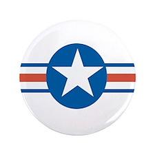 "Vintage US Air Force 3.5"" Button"