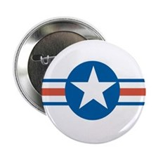 "Vintage US Air Force 2.25"" Button"
