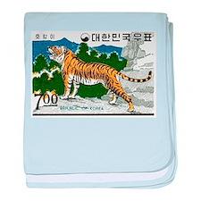 1966 Korea Tiger Postage Stamp baby blanket