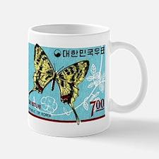 1966 Korea Silk Butterfly postage Stamp Mug
