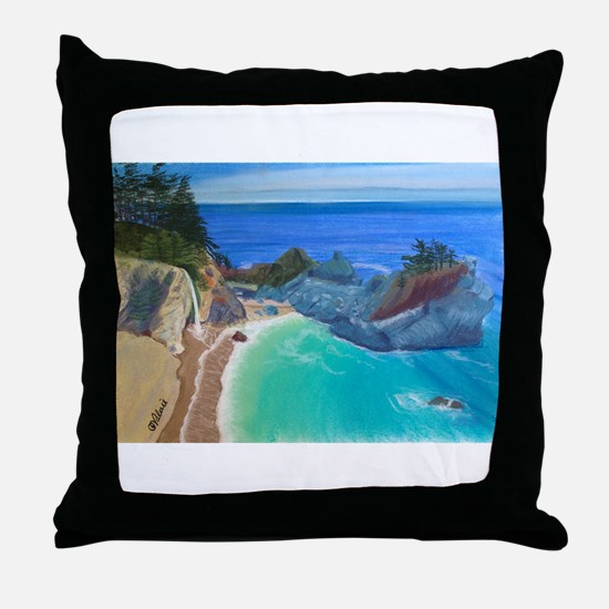 McWay Falls Big Sur Throw Pillow