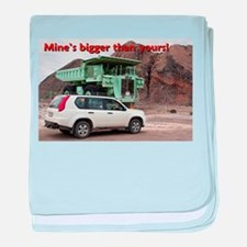 Mine's bigger than yours: mining truck & SUV baby