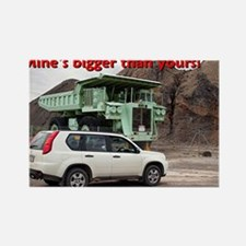 Mine's bigger than yours: mining truck & SUV Recta
