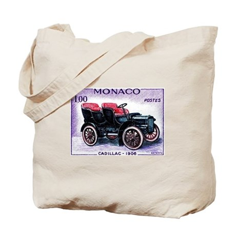 1961 Monaco 1906 Cadillac Postage Stamp Tote Bag