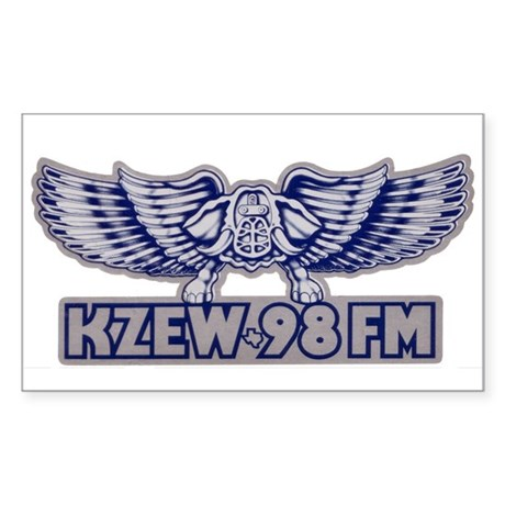 KZEW (1980) Sticker (Rectangle)