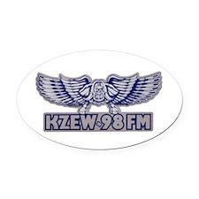 KZEW (1980) Oval Car Magnet