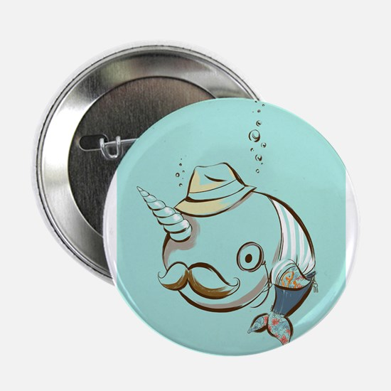 """hipster narwhal 2.25"""" Button"""