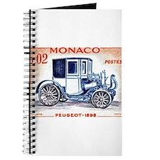 1961 Monaco 1898 Peugeot Postage Stamp Journal