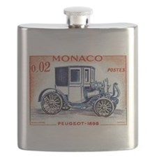 1961 Monaco 1898 Peugeot Postage Stamp Flask