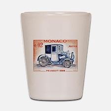1961 Monaco 1898 Peugeot Postage Stamp Shot Glass