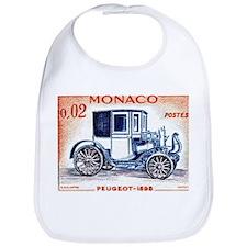 1961 Monaco 1898 Peugeot Postage Stamp Bib