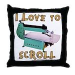 Ilovetoscrollex Throw Pillow