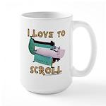 Ilovetoscrollex Large Mug Mugs