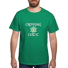 White logo w green knot T-Shirt