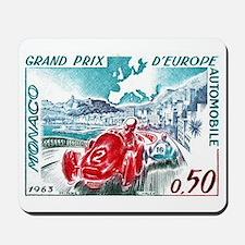 1963 Monaco Grand Prix Postage Stamp Mousepad
