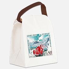 1963 Monaco Grand Prix Postage Stamp Canvas Lunch