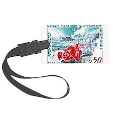 1963 Monaco Grand Prix Postage Stamp Luggage Tag