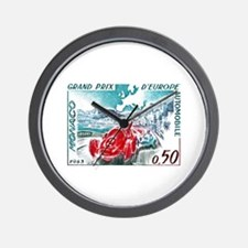 1963 Monaco Grand Prix Postage Stamp Wall Clock
