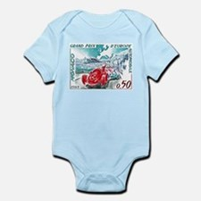 1963 Monaco Grand Prix Postage Stamp Infant Bodysu