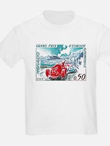 1963 Monaco Grand Prix Postage Stamp T-Shirt