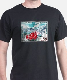 1963 Monaco Grand Prix Postage Stamp T-Shirt