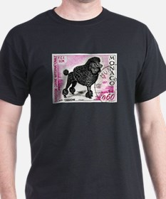1975 Monaco Dog Show Poodle Stamp T-Shirt