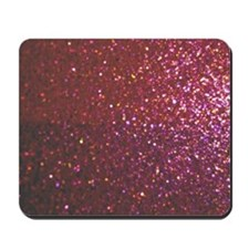 Hot Pink Faux Glitter Mousepad